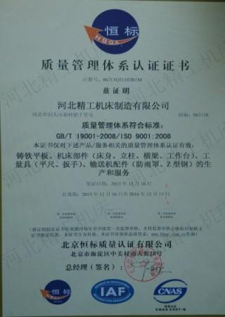 ISO900质量管理体系认证